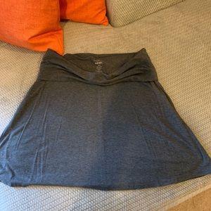 Gray cotton Old Navy skirt